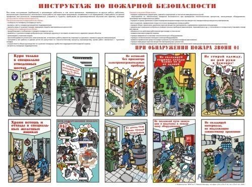 противопожарный инструктаж плакаты скачать